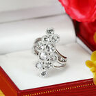 Natural White Topaz Solid 925 Sterling Silver Ring (gr620)