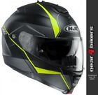 HJC IS-Max 2 Mine Matt Yellow Black Motorcycle Flip Front Modular System Helmet