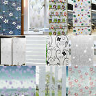 Static Cling Frosted Stained Flower Window Film Glass Cover Privacy Home Decor