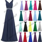 New Chiffon Formal Long Evening Ball Gown Party Prom Bridesmaid Dress Size 6-22