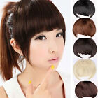 Pretty Girls Clip On Clip In Front Hair Bang Fringe Hair Extension Piece hg92