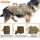 Tactical Molle Dog Vest Mesh Harness Clothes + Tools Pouches Bags Outdoor Set