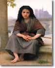 HUGE Bouguereau The Bohemian Stretched Canvas Giclee Repro Art Print ALL SIZES