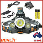 2017 POWER RECHARGEABLE HEADLAMP 50W 3xXM-L T6 LED HEADLIGHT TORCH LAMP 2X18650