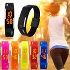 Men Women Silicone Band LED Sport Quartz Digital Wrist Watch Waterproof Bracelet