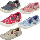 CLARKS GIRLS T-BAR DOODLE BRILEY BOW