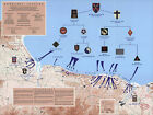 War Map D-Day 6th of June Normandy Military WWII History Poster Wall Art