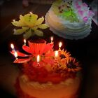 Romantic Happy Birthday Lotus Flower Musical Singing Rotating Candle Party Gifts