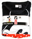 Mickey Mouse Disney 2pc Fleece Pajama Set Adult sizes New w/tags
