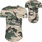 Young & Rich Herren T-Shirt Camouflage Patches-Print tee S1388