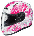 HJC Adult Pink/White Cosmos CL-17 Full Face Motorcycle Helmet Snell DOT