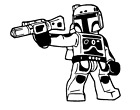 Vinyl Decal Sticker Truck Car Laptop Window - Star Wars Lego