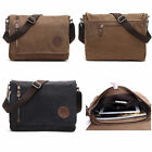 Women Men Vintage Canvas Satchel School Military Shoulder Messenger Laptop Bag
