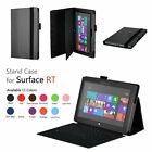 Leather Folio Stand Case w/ Keyboard Holder For Microsoft Surface RT /Surface 2