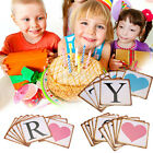 Fashion Retro Baby Birthday Party Decor Letter Flag Bunting Banners US