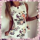 Womens Fashion Sleeveless Floral Bodycon Casual Party Tank Shirt Tops Blouse