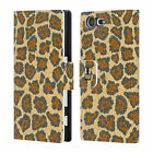 HEAD CASE DESIGNS FLORAL CAMO LEATHER BOOK WALLET CASE FOR SONY XPERIA X COMPACT