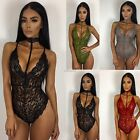 Women Lingerie Babydoll Lace Dress  Underwear Sleepwear Nightwear Jumpsuit N98B