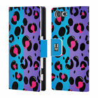 HEAD CASE DESIGNS NAIL ART LEATHER BOOK CASE FOR SONY XPERIA X COMPACT