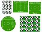 Football Pitch Soccer Ball Edible Cake Decoration Topper Fairy Cake Side Strips