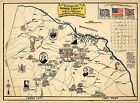 Early Midcentury Historical Map Rowan County North Carolina Vintage Wall Poster