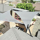 Sun Shade Sail Light Gray Permeable UV Block Outdoor Canopy Awning Pool PatioTop