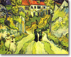 HUGE Van Gogh VILLAGE STREET- STAIRS Stretched Canvas Giclee Art Repro ALL SIZES