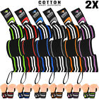 Weight Lifting Wrist Supports Bandage Elasticated Cotton Straps Gym Workout 2X