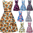 Vintage Retro Rockabilly Swing 50's Pinup Housewife Cocktail Evening Party Dress
