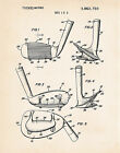 Golf Accessories Personalized Gifts Present Evans Wedge Club Head Patent Print
