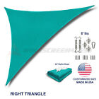 Sun Shade Sail Turquoise Permeable UV Block Outdoor Canopy Awning Cover W/6''Kit