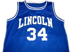 Shuttlesworth #34 Lincoln He Got Game Movie Men Basketball Jersey Blue Any Size