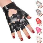 Fashion Half Finger PU Leather Gloves Heart Ladys Fingerless Driving Show Gloves