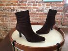 White Mountain Chantel Brown Suede Ruched Ankle Boots New