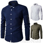 Fashion Mens Long sleeve Casual Shirt T-shirts Slim Fit Bussines Tops 3 colors