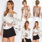Fashion Womens Ladies Long Sleeve Floral Shirt Casual Blouse Loose Tops T Shirt