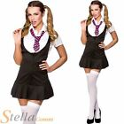 Ladies Naughty School Girl St Trinians Fancy Dress Costume Uniform Womens Adult