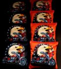 PATRIOTIC BALD EAGLE MOTORCYCLE HARLEY 8 ACA Regulation Cornhole Bean Bags B288