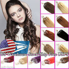 "Micro Ring Beads Loop Tip Brazilian Remy Human Hair Extensions 16""18""20"" US Ship"