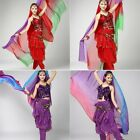 New Belly Dance Costume Gradient Color imitated Silk Shawl Veil 220120cm Scarfs