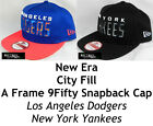 NEW ERA CITY FILL MLB 9FIFTY A FRAME SNAPBACK CAP - LA DODGERS/NY YANKEES