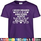 Awesome AUNTIE Killing It Funny Mothers Day Birthday Christmas Gift Tee T Shirt