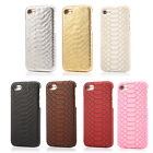 Luxury 3D Snake Skin Leather Glitter gold Back Cover case For iPhone 5s 6 7 Plus