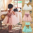 Flower Girl Kids Toddler Baby Sequins Princess Party Bridesmaids Tutu Dresses