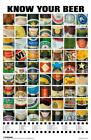 Name That Beer College Party Know Labels Game Poster 11x17