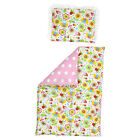 Full Duvet Set Reversible PRAM BASSINET Moses Basket 2 in 1 - COTTON & MINKY