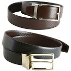 Men's Dress Belt Reversible Black Brown Leather (Pattern)  Imported From Spain