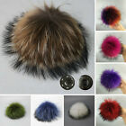 New Arrive Real Fur Ball PomPom Car Phone Keychain Handbag Removable Key Ring
