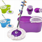 Easy Magic Floor Mop 360° Bucket 2 Heads Microfiber Rotating Head