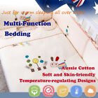 4Pcs Baby Toddler Kid Quilt Sheet Pillow Case Bedding Set Winter 2.5tog 3.5tog